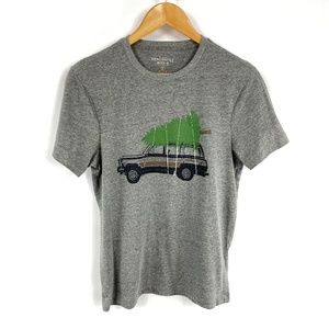 J Crew Truck and Tree Graphic Tee Gray 3738